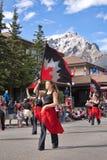 Défilé de jour de Canada dans Banff Photographie stock