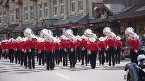 Défilé de jour de Canada dans Banff Image stock