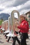 Défilé de jour de Canada dans Banff Photographie stock libre de droits