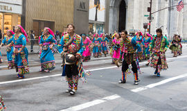Défilé de jour de 2016 hispaniques à New York Image stock