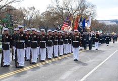 Défilé de jour de Patrickâs de saint de Washington DC. Image stock