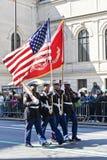 Défilé de jour de rue Patrick dans NYC Image stock