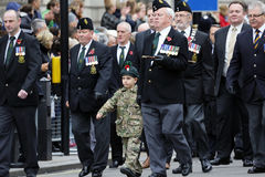2015, défilé de jour de souvenir, Londres Images libres de droits