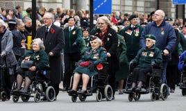 2015, défilé de jour de souvenir, Londres Image stock
