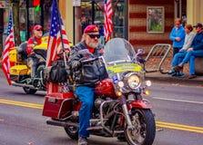 Défilé 2016 de jour de vétérans Photographie stock libre de droits