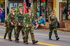 Défilé 2016 de jour de vétérans Photo stock