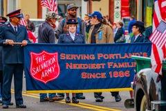 Défilé 2016 de jour de vétérans Images libres de droits