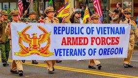 Défilé 2016 de jour de vétérans Photo libre de droits