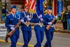 Défilé 2016 de jour de vétérans Images stock