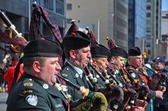 Défilé de jour du ` s de St Patrick, Ottawa, Canada Images stock