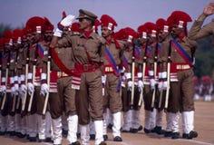 Défilé de Jour de la Déclaration d'Indépendance de l'Inde photographie stock