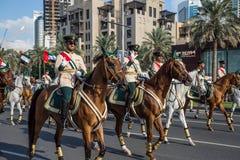 Défilé de jour national des EAU Photographie stock