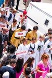 Défilé de la jeunesse du monde, Istanbul, Turquie Image libre de droits