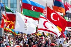 Défilé de la jeunesse du monde, Istanbul, Turquie Image stock