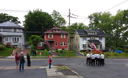 Défilé de Memorial Day, Etats-Unis photo libre de droits