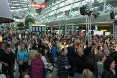 Défilé de mode d'aéroport de Düsseldorf Photo stock
