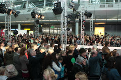Défilé de mode d'aéroport de Düsseldorf Photos stock