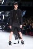 Défilé de mode de Bipa : Bord codé, Zagreb, Croatie Images stock