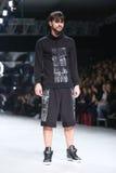 Défilé de mode de Bipa : Bord codé, Zagreb, Croatie Images libres de droits