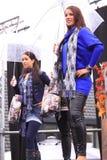 Défilé de mode de l'hiver sous la pluie Image stock