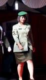Défilé de mode de Militay Images stock