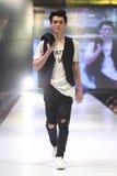 Défilé de mode du ` 2017 de semaine de mode de Vientiene wow de ` Image libre de droits