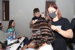 Défilé de mode 2019 de passion de cheveux d'académie de Chalachol photo libre de droits