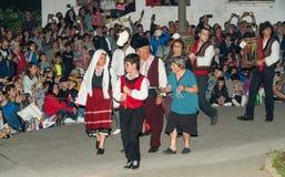 Défilé de Nestinar avant que le charbon de bois danse, Bulgarie en Bulgarie Photographie stock libre de droits