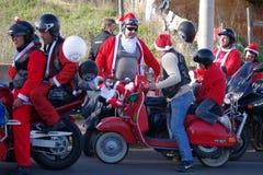 Défilé de Noël de cyclistes Image libre de droits