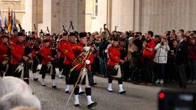 Défilé de RCMP dans Ypres Image libre de droits