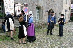 Défilé de robe d'indulgence en Locronan, 02 images libres de droits