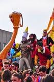 Défilé de rue de carnaval dans Moncalieri, Turin. images stock