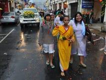 Défilé de rue du festival de végétarien de Phuket Images stock