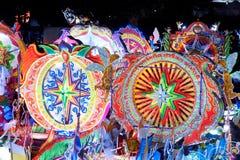 Défilé de Sakhon Nakhon de festival d'étoile de Noël en Thaïlande Photographie stock libre de droits