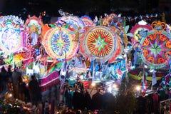 Défilé de Sakhon Nakhon de festival d'étoile de Noël en Thaïlande Photo stock