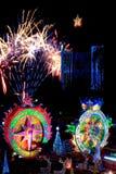 Défilé de Sakhon Nakhon de festival d'étoile de Noël en Thaïlande Images stock