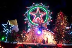 Défilé de Sakhon Nakhon de festival d'étoile de Noël en Thaïlande Images libres de droits