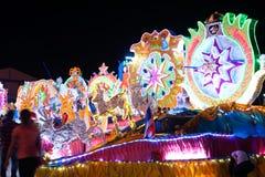 Défilé de Sakhon Nakhon de festival d'étoile de Noël en Thaïlande Photos libres de droits