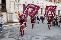Défilé de Siena Contrada Photo stock