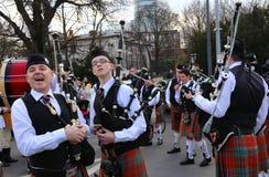 Défilé de St Patrick s - Irlandais photos libres de droits