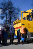 Défilé de tramway de Moscou - 2017 Photos libres de droits