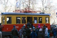 Défilé de tramway de Moscou - 2017 Photographie stock libre de droits