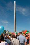 Défilé de victoire à Brest sur l'honneur du soixante-dixième Image libre de droits