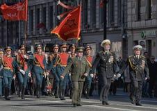 Défilé de victoire à St Petersburg Photos libres de droits