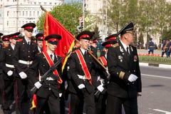 Défilé de victoire. Vladimir, 9 mai 2009 Images libres de droits