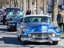 Défilé de voiture de vintage Photo stock