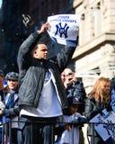 Défilé de Yankee - cc Sabathia Images libres de droits