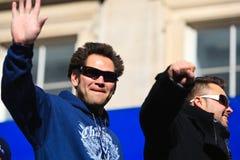 Défilé de Yankee - Damon et Swisher Photo libre de droits