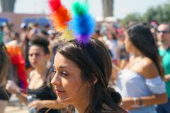 Défilé des lesbiennes et des homosexuels Les gens Photo stock