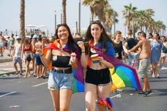 Défilé des lesbiennes et des homosexuels Les gens Image libre de droits